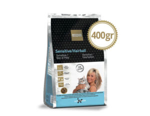 ENOVA SENSITIVE/HAIRBALL CAT 400gr-ticinese-petfood